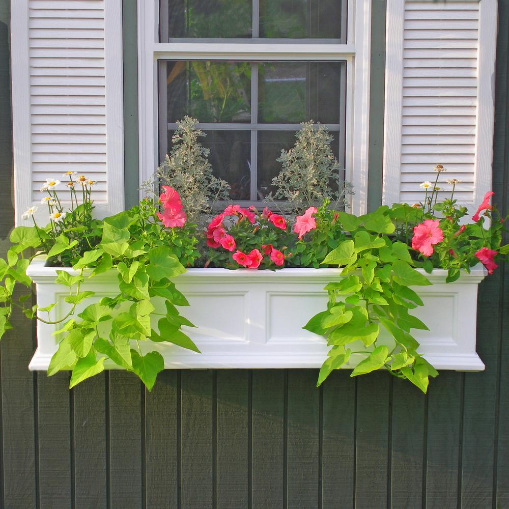 Attractive Mayne Fairfield 11 In. X 36 In. Plastic Window Box