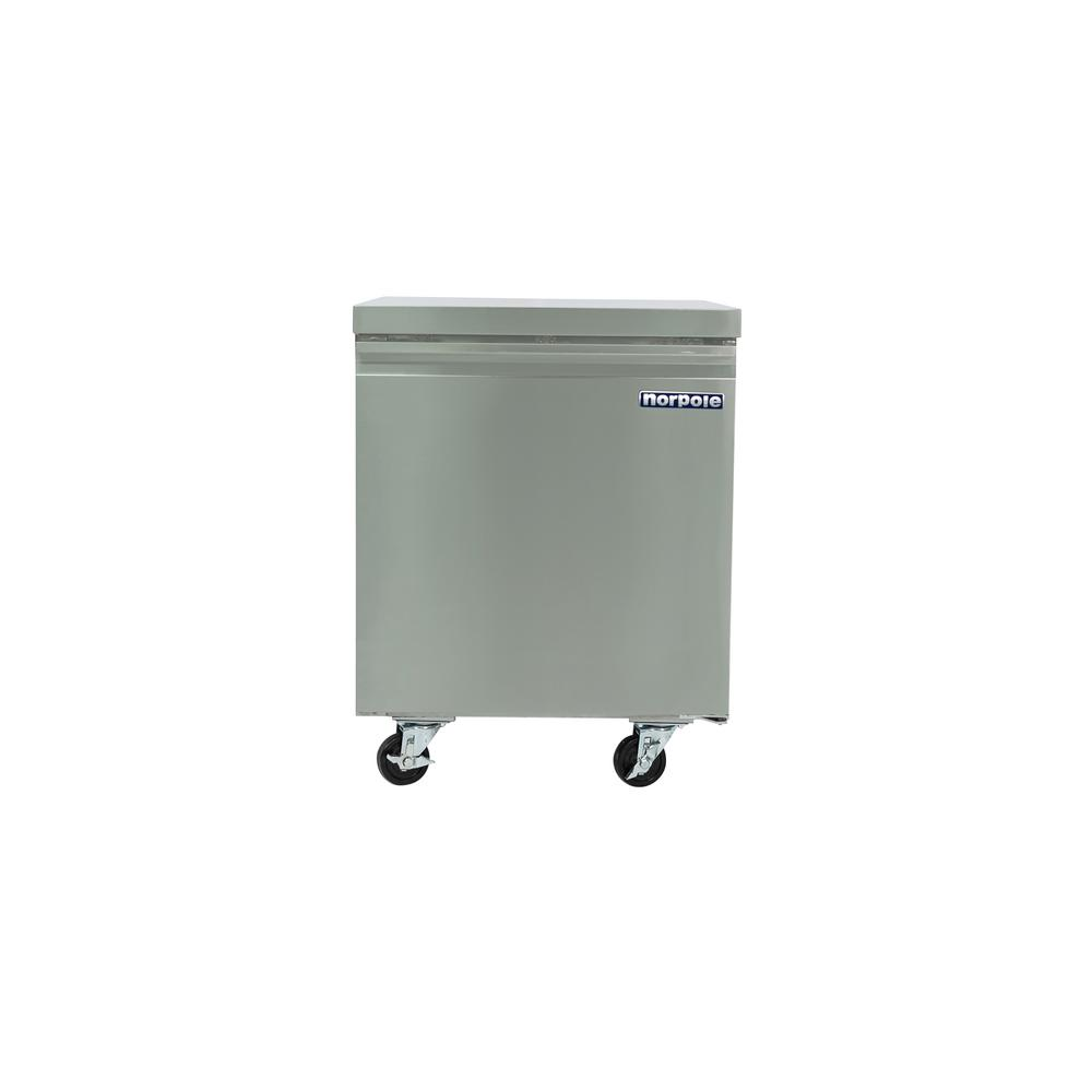 commercial 6 cu ft single door under counter refrigerator in stainless - Commercial Undercounter Refrigerator