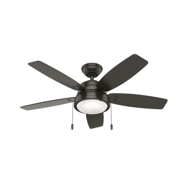 Channelside 46 in. LED Indoor Noble Bronze Ceiling Fan with Light Kit