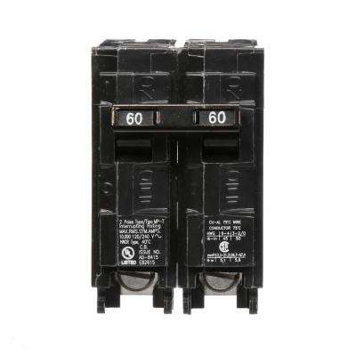 60 Amp Double-Pole Type MP Circuit Breaker