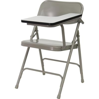 Beige Steel Left Arm Folding Chair