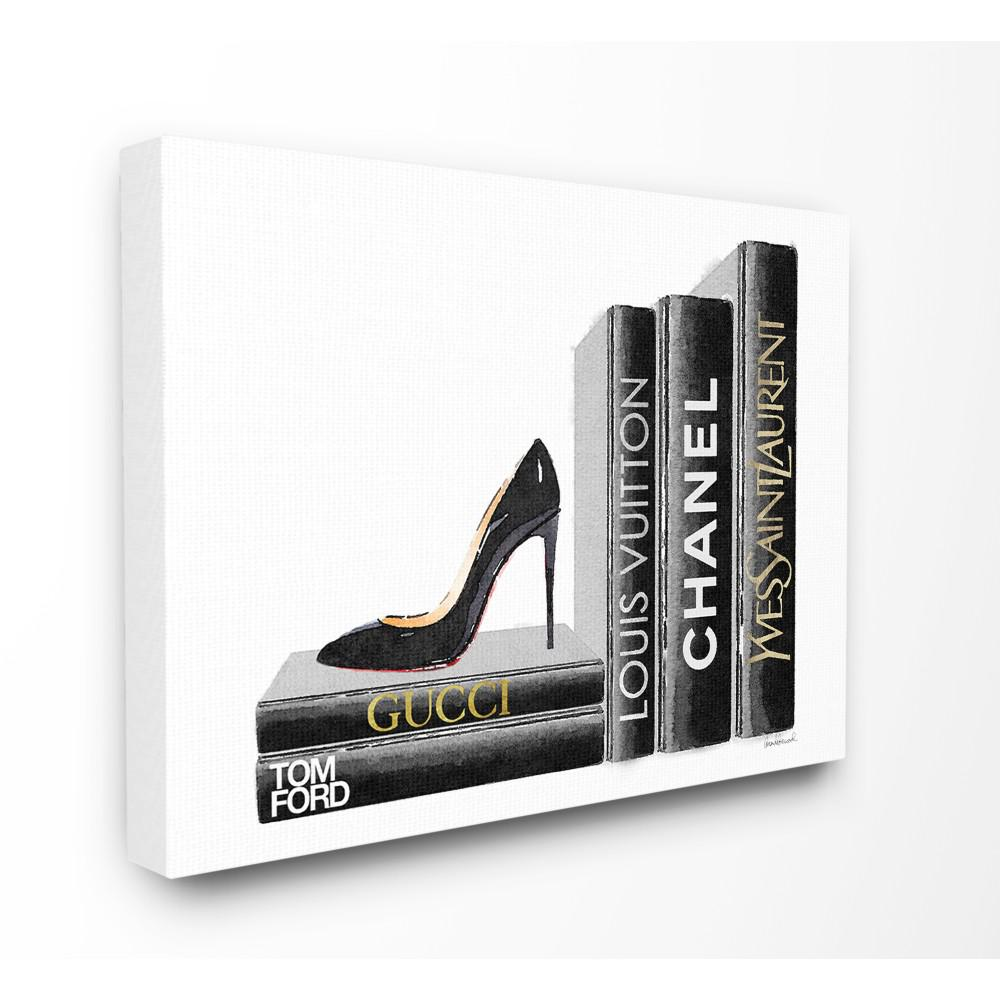"16 in. x 20 in. ""High Fashion Black Book Shelf with"