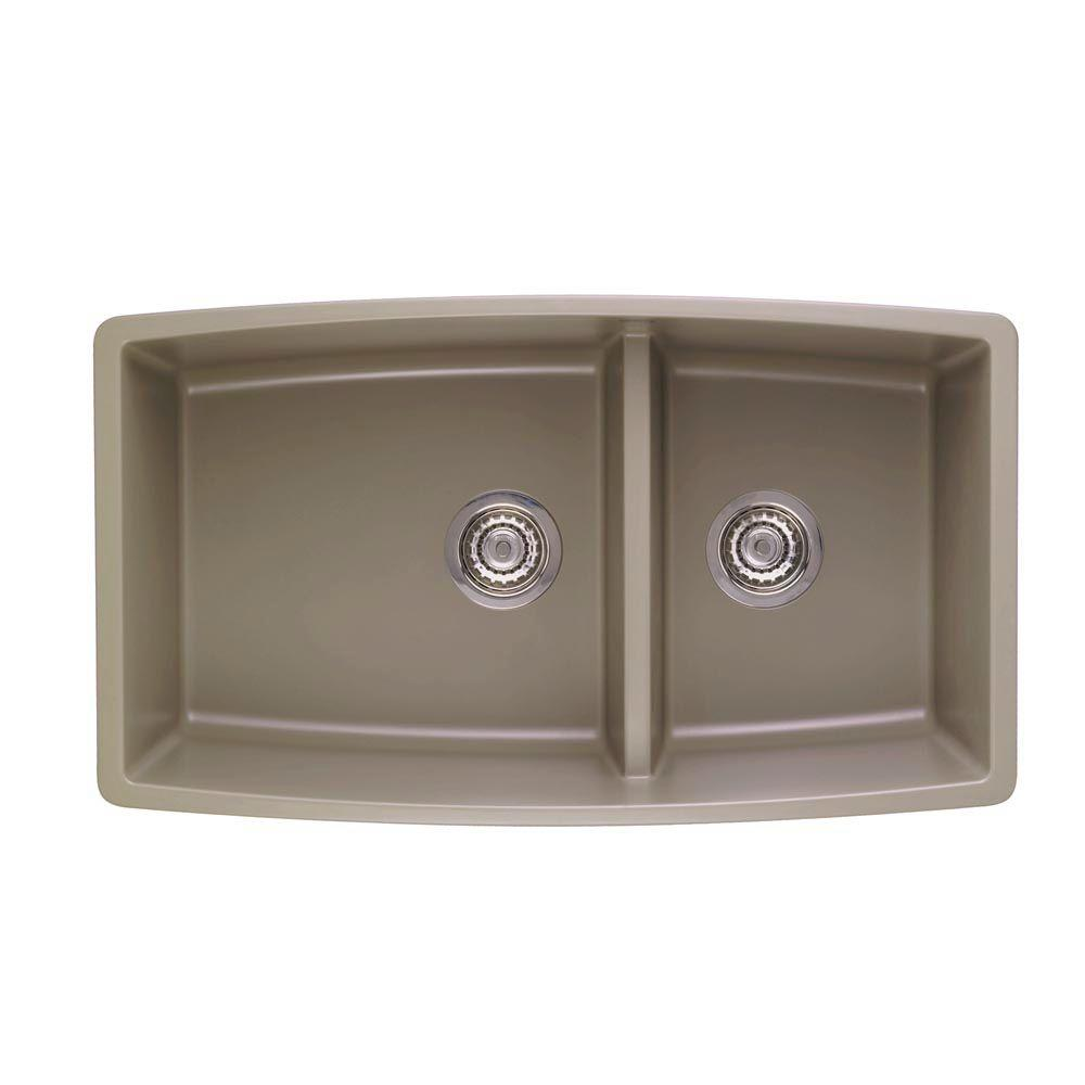 lowes composite granite kitchen sinks blanco performa undermount granite composite 33 in 0 9073