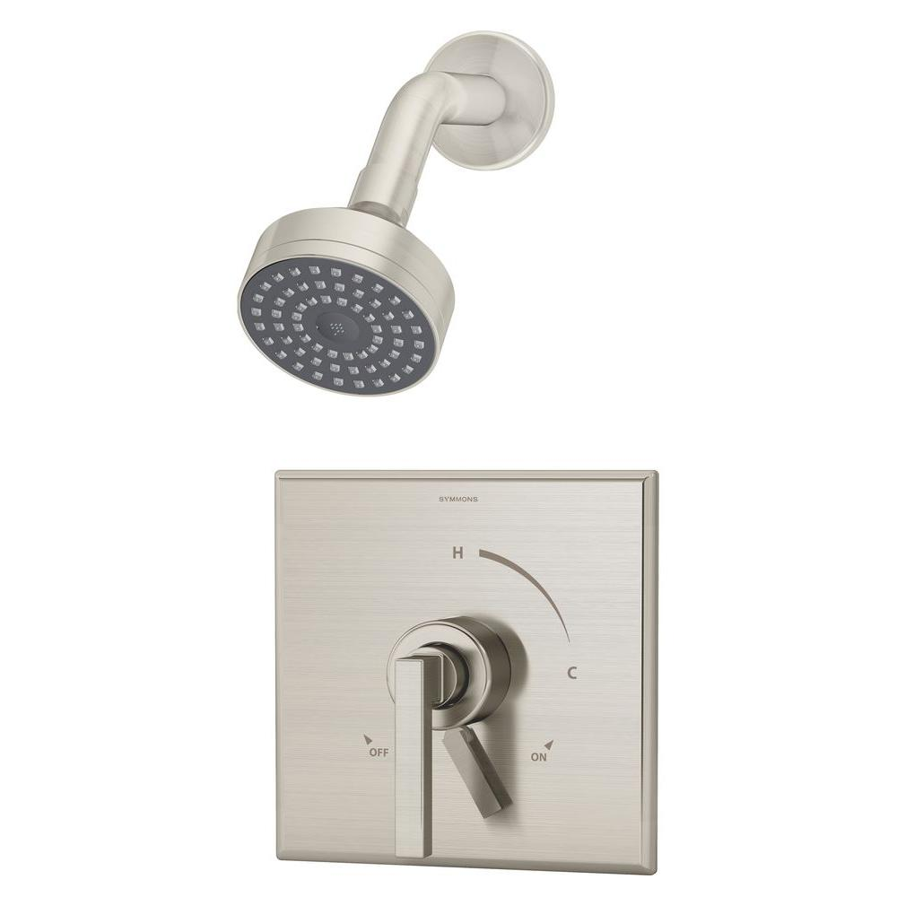 Duro Single-Handle 1-Spray Shower Faucet in Satin Nickel (Valve Included)