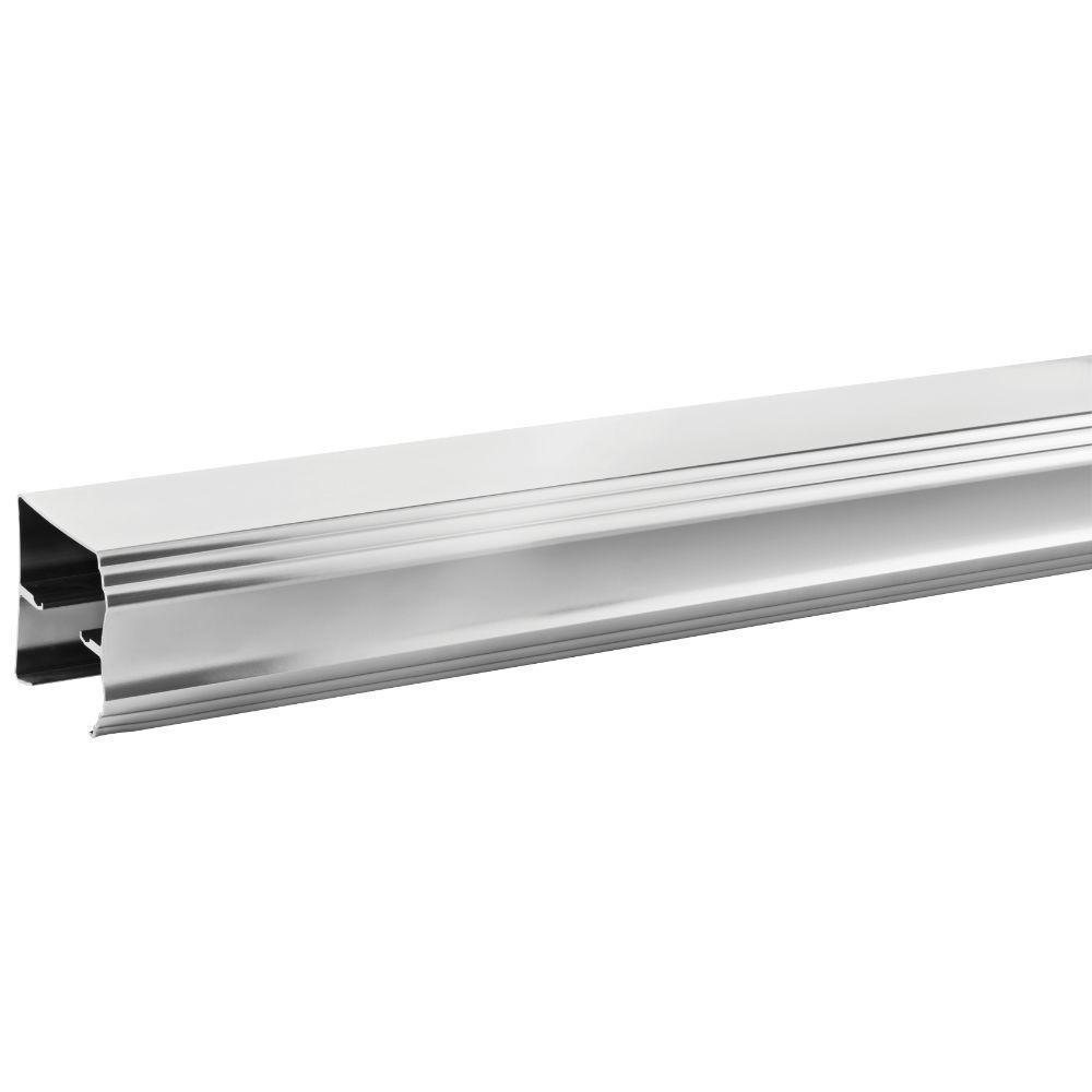 48 in. to 60 in. Semi-Frameless Traditional Sliding Shower Door Track Assembly Kit in Chrome