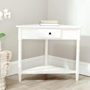 Gomez Distressed Cream Storage Console Table