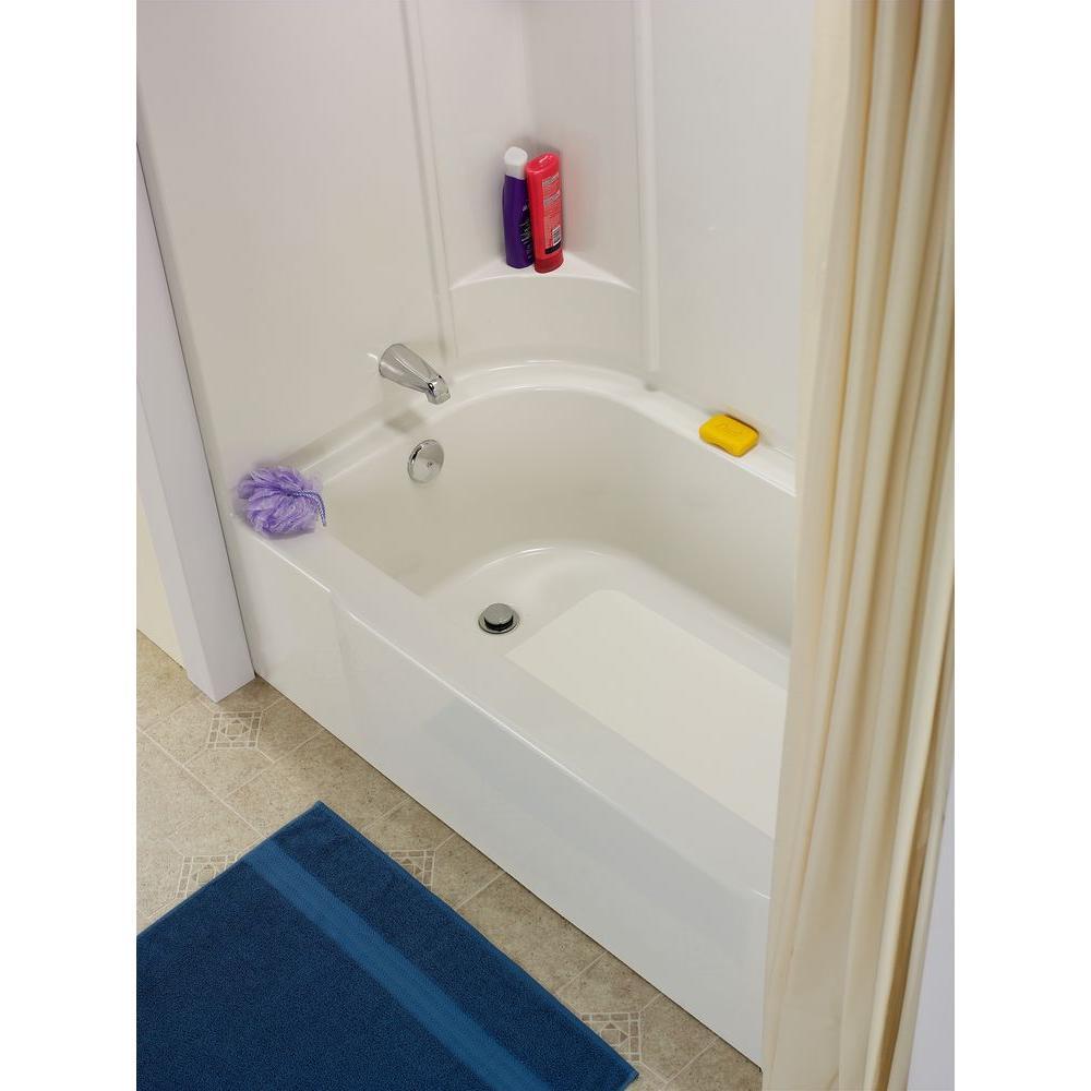 DIY Bathtub Floor Repair White 16 x 36in Crack Leaky Tub Kit ...