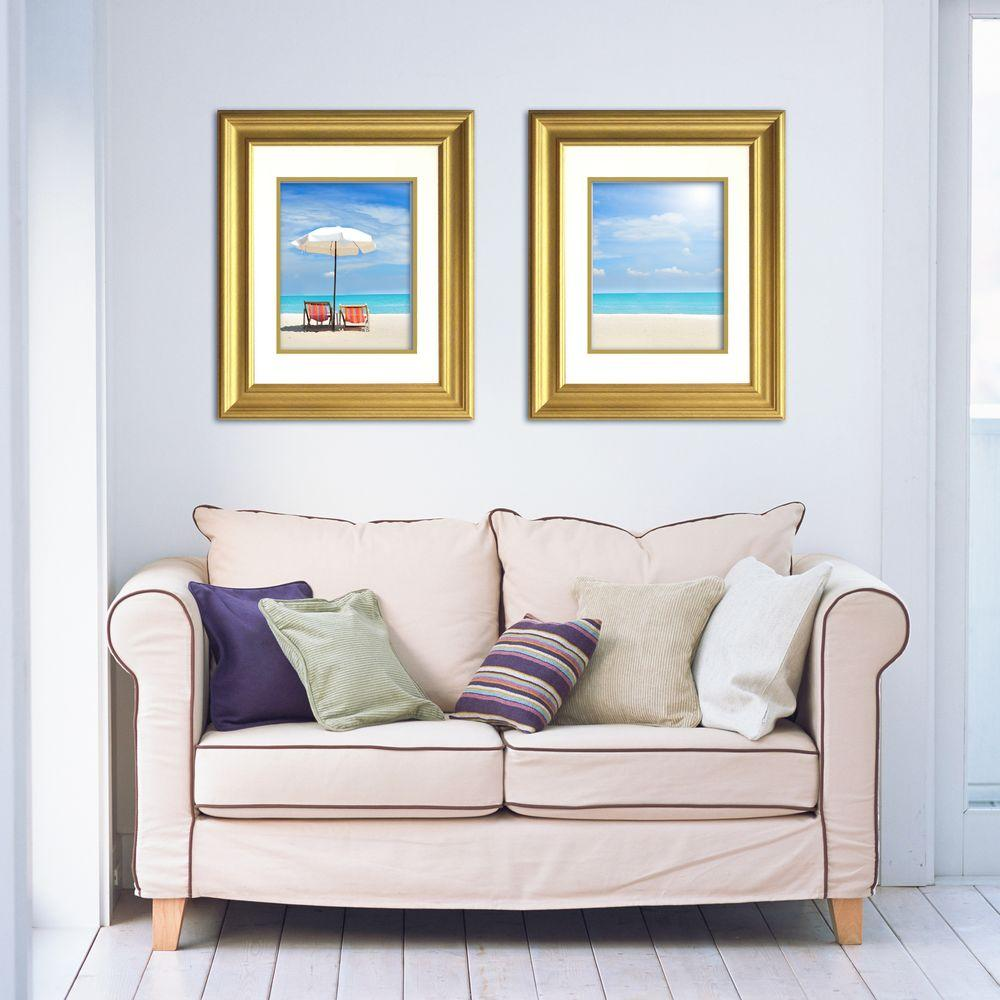 Timeless Frames Lauren 1-Opening 16 in. x 20 in. Gold Matted Picture Frame