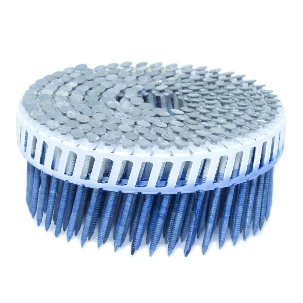 2 in. x 0.092 in. 15-Degree Ring Hot Dip Plastic Sheet Coil Siding Nail 800 per Box