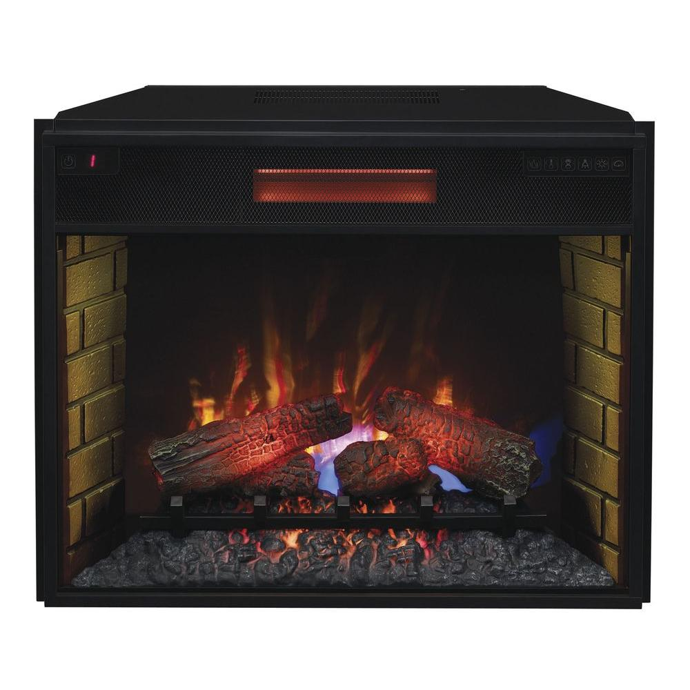 Add personality to any room in your home with this durable Infrared Quartz Electric Fireplace Insert with Flush-Mount Trim Kit.
