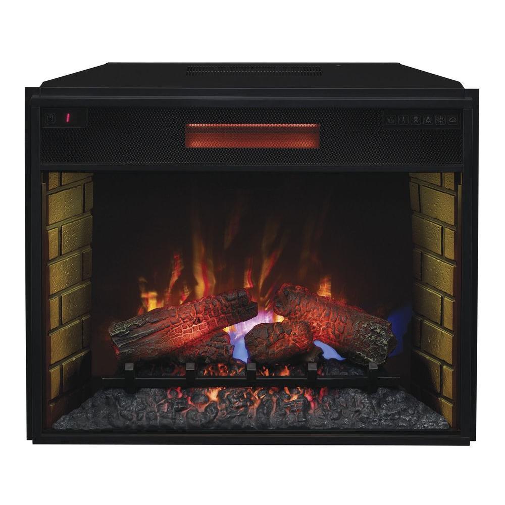 In Infrared Quartz Electric Fireplace Insert With FlushMount - Fireplace inserts electric