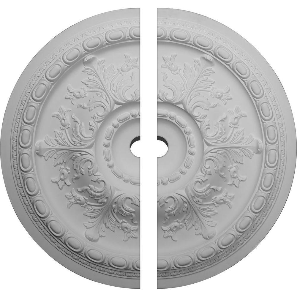 38-3/8 in. O.D. x 3 in. I.D. x 2-7/8 in. P Oslo Ceiling Medallion (2-Piece)