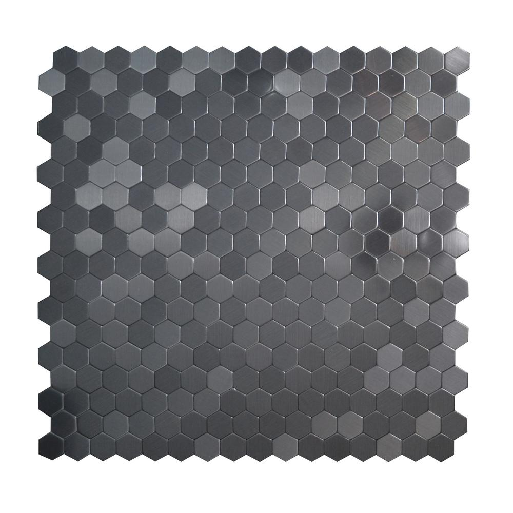 Inoxia Sdtiles Hexagonia Sb Black Stainless 11 46 In X 89 5 Mm