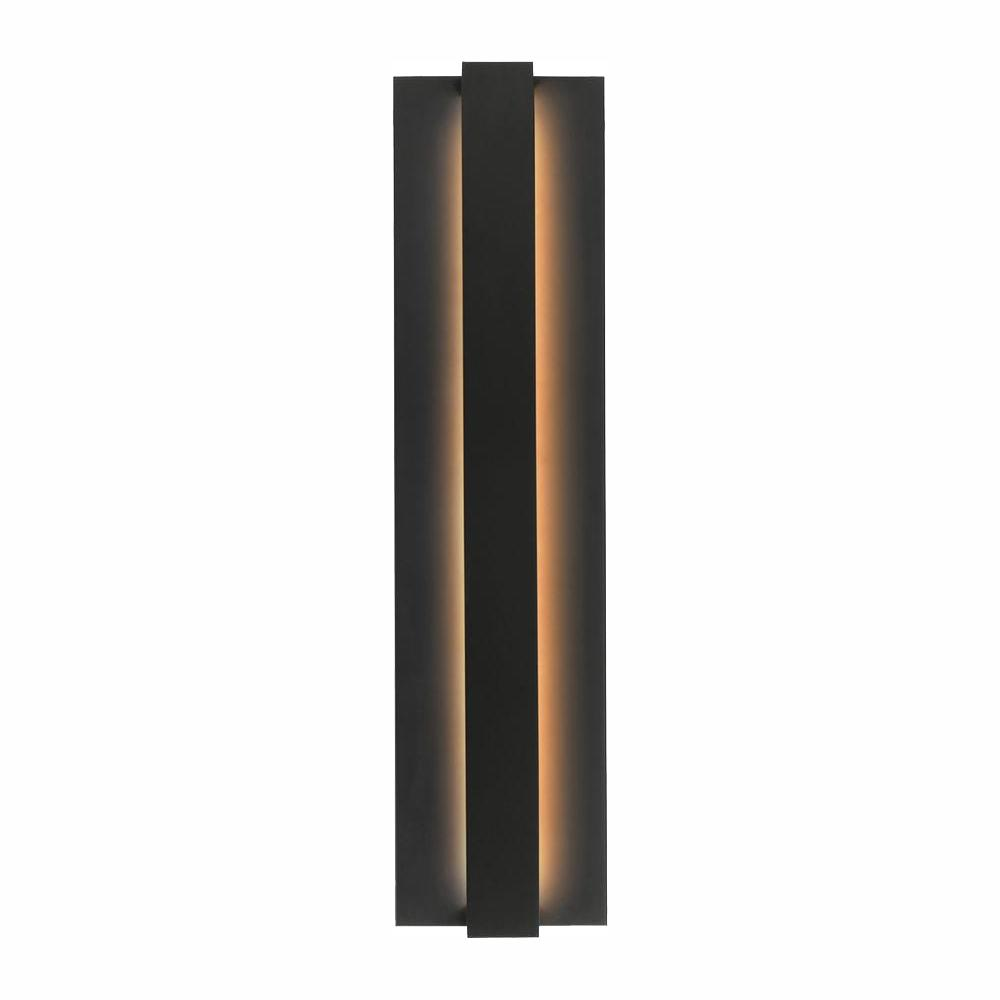 LBL Lighting Windfall Black 6 in. W x 24 in. H Integrated LED Outdoor Wall Lantern Sconce