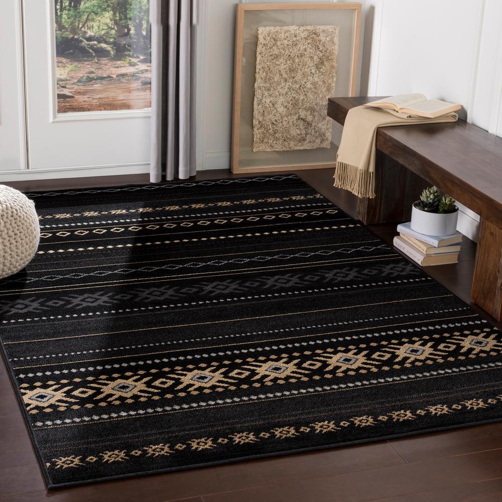 Zuni Black 7 ft. x 10 ft. Indoor Area Rug