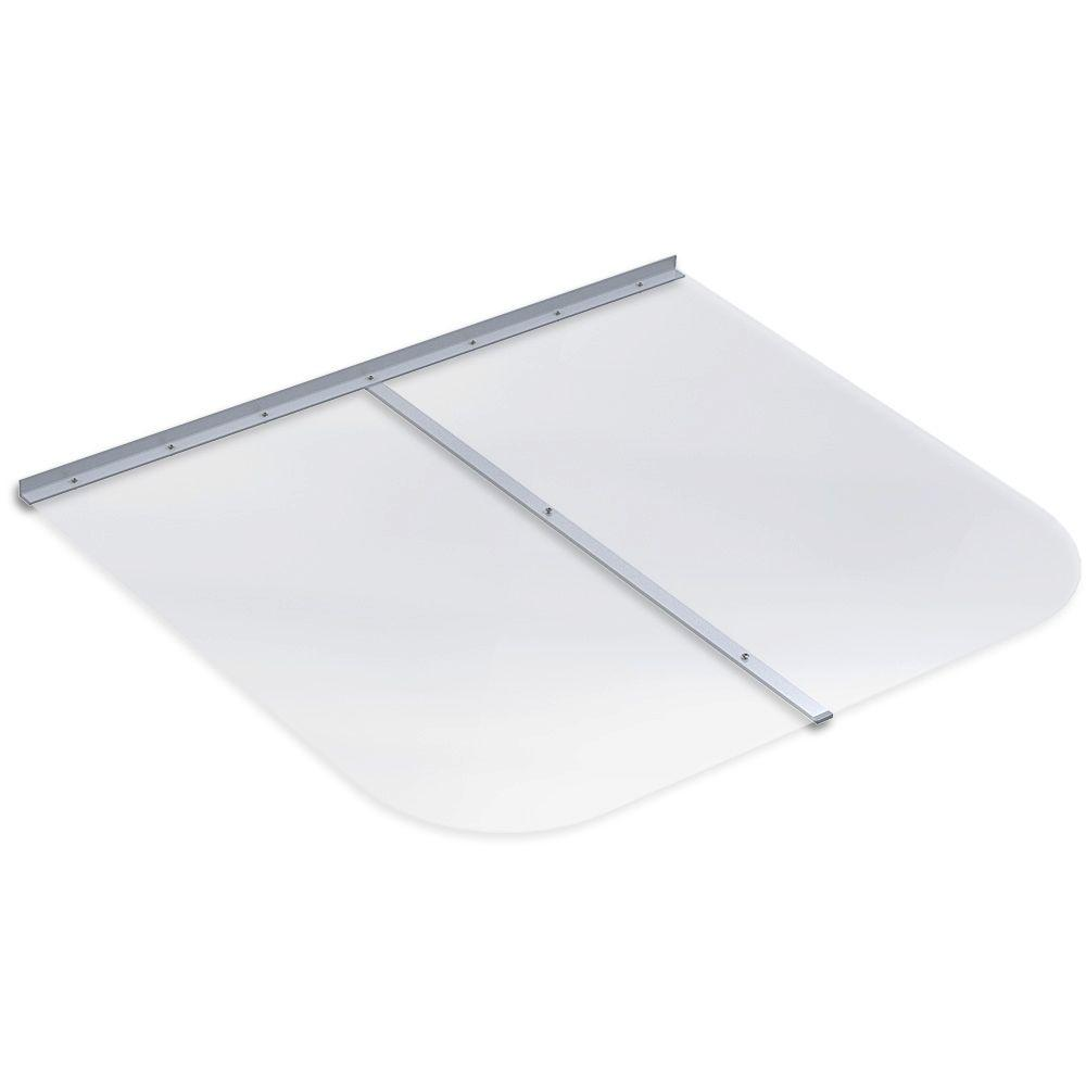45 in. x 38 in. Rectangular Clear Polycarbonate Window Well Cover