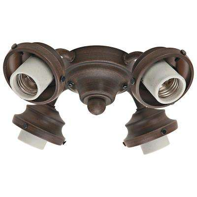 4-Light Cocoa 2.25 in. Ceiling Fan Fitter