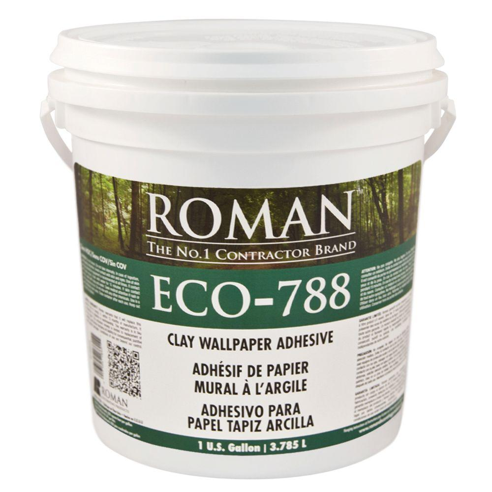 Roman eco 788 1 gal strippable clay adhesive 18601 the for Wallpaper primer home depot