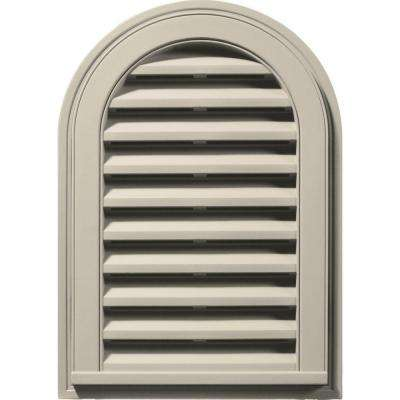 14 in. x 22 in. Round Top Gable Vent in Champagne