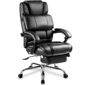 Marvelous Merax Black Ergonomic Pu Leather Big And Tall Office Chair Creativecarmelina Interior Chair Design Creativecarmelinacom