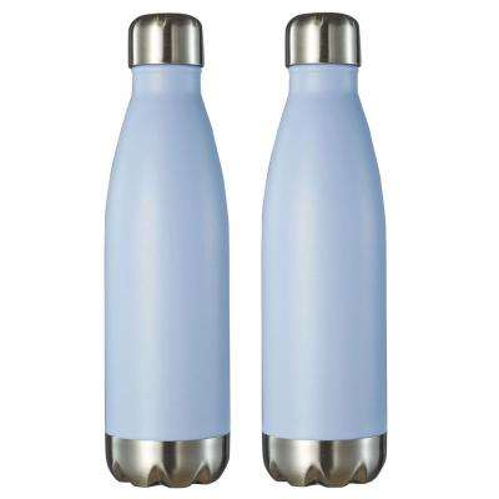 Marina 16 oz. Pastel Blue Double Wall Water Bottle