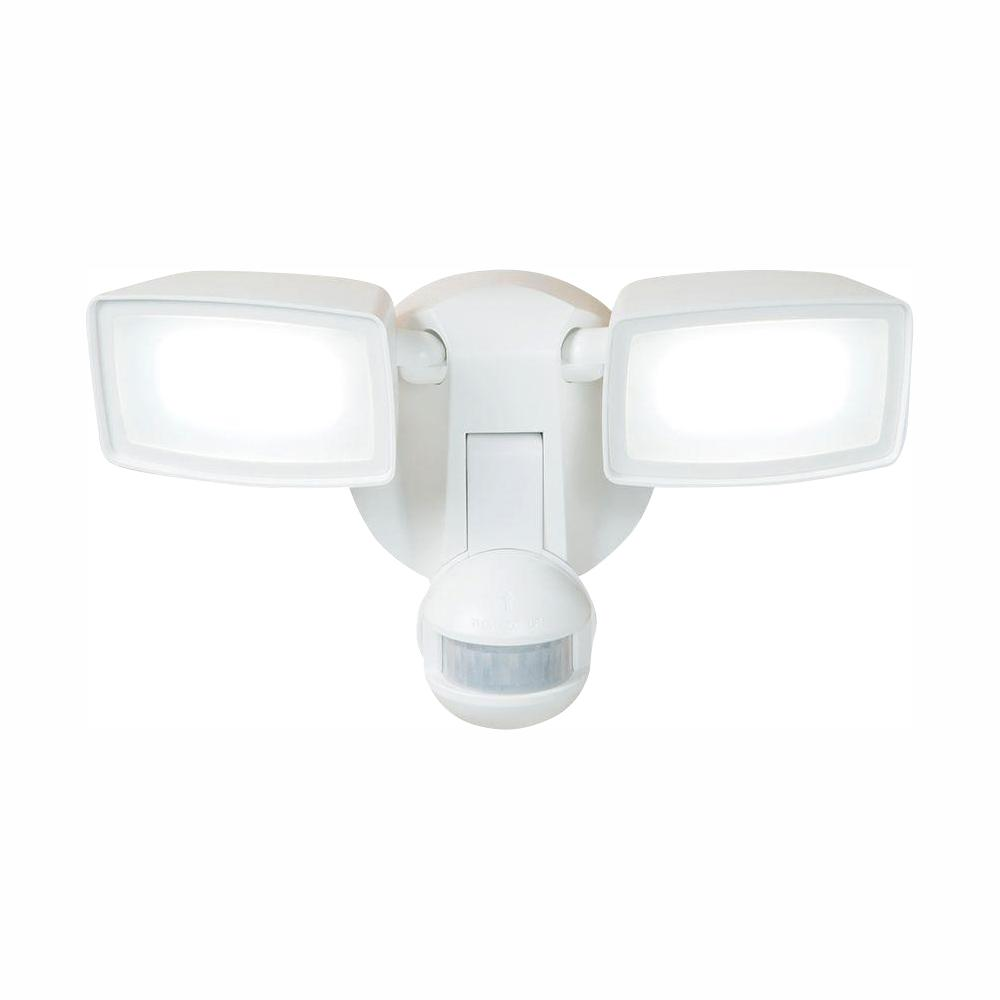 Halo 180-Degree White Dual-Position Motion Activated Sensor Outdoor Integrated LED Flood Light