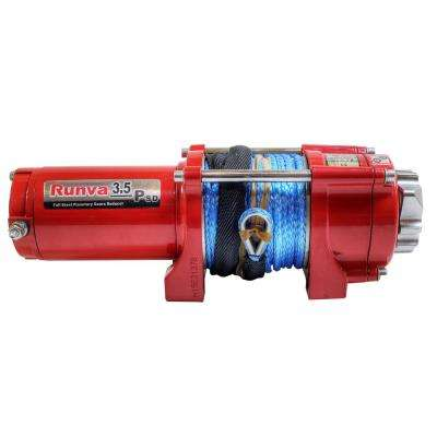 3,500 lbs. Capacity 12-Volt Electric Winch with 50 ft. Synthetic Rope Super Deluxe Package