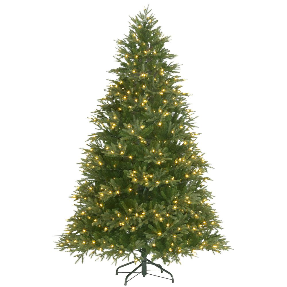 Pre Lit Majestic Fir Artificial Christmas Tree With Color Changing Lights