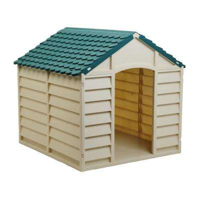 Dog House Beige and Green-Small