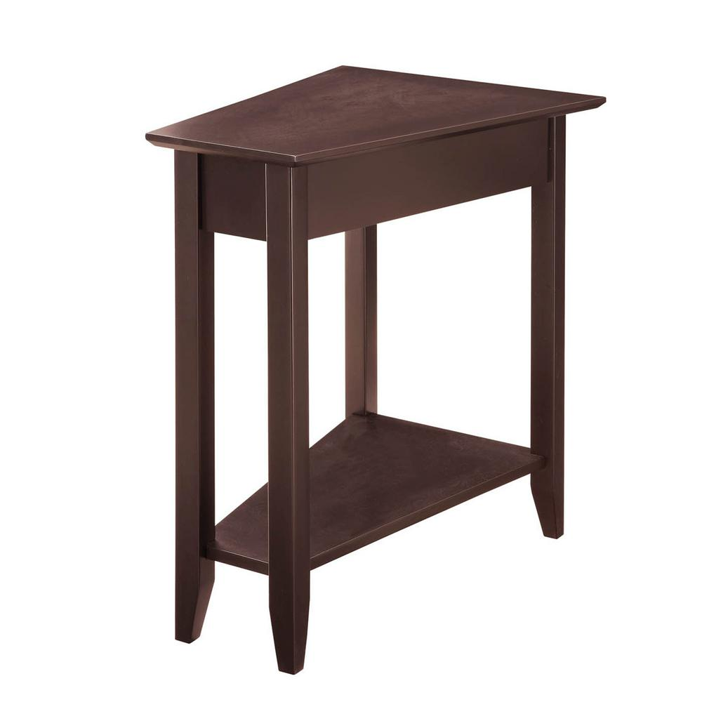 Convenience Concepts American Heritage Espresso Wedge End Table