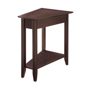 Convenience Concepts American Heritage Espresso Wedge End Table by Convenience Concepts