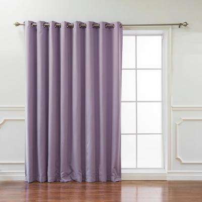 Wide Basic 100 in. W x 96 in. L Blackout Curtain in Lavender