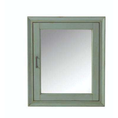 Hazelton 24 in. W Bathroom Medicine Cabinet in Antique Green