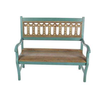 Green and Brown Wooden Bench