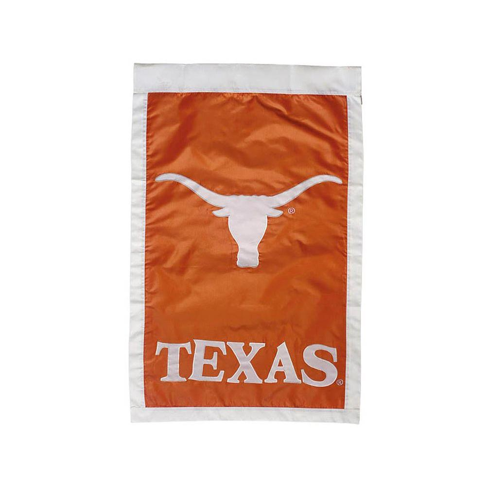 Fan Essentials NCAA 28 in. x 44 in. University of Texas Applique House Flag