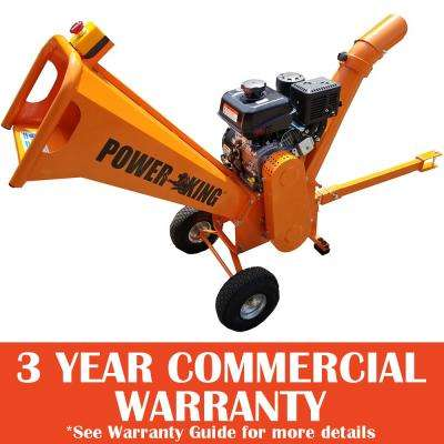 3 in. 7 HP Gas Powered Chipper Shredder with Kohler Commercial Engine and Pin Hitch