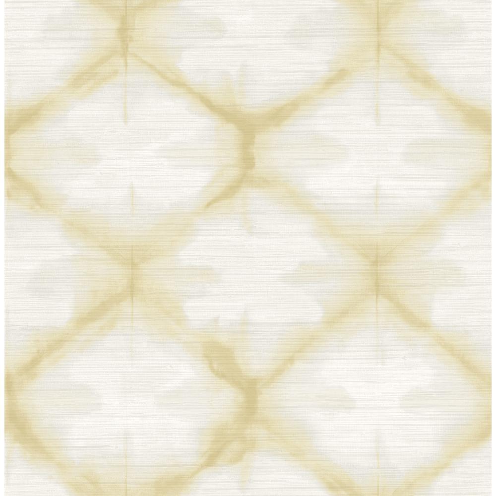 56.4 sq. ft. Zanzibar Gold Shibori Wallpaper
