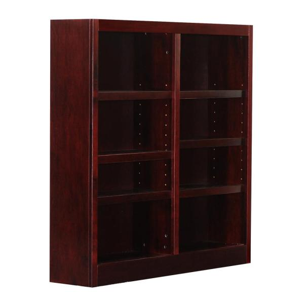 Wooden Bookcase 5-Shelf Storage Bookshelf Solid Wood Barrister Cabinet Cherry