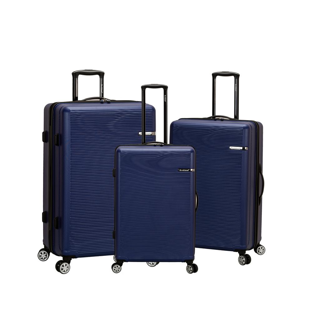 Rockland Skyline Collection 3-Piece Hardside Dual Spinner Luggage Set, Blue was $479.99 now $287.99 (40.0% off)