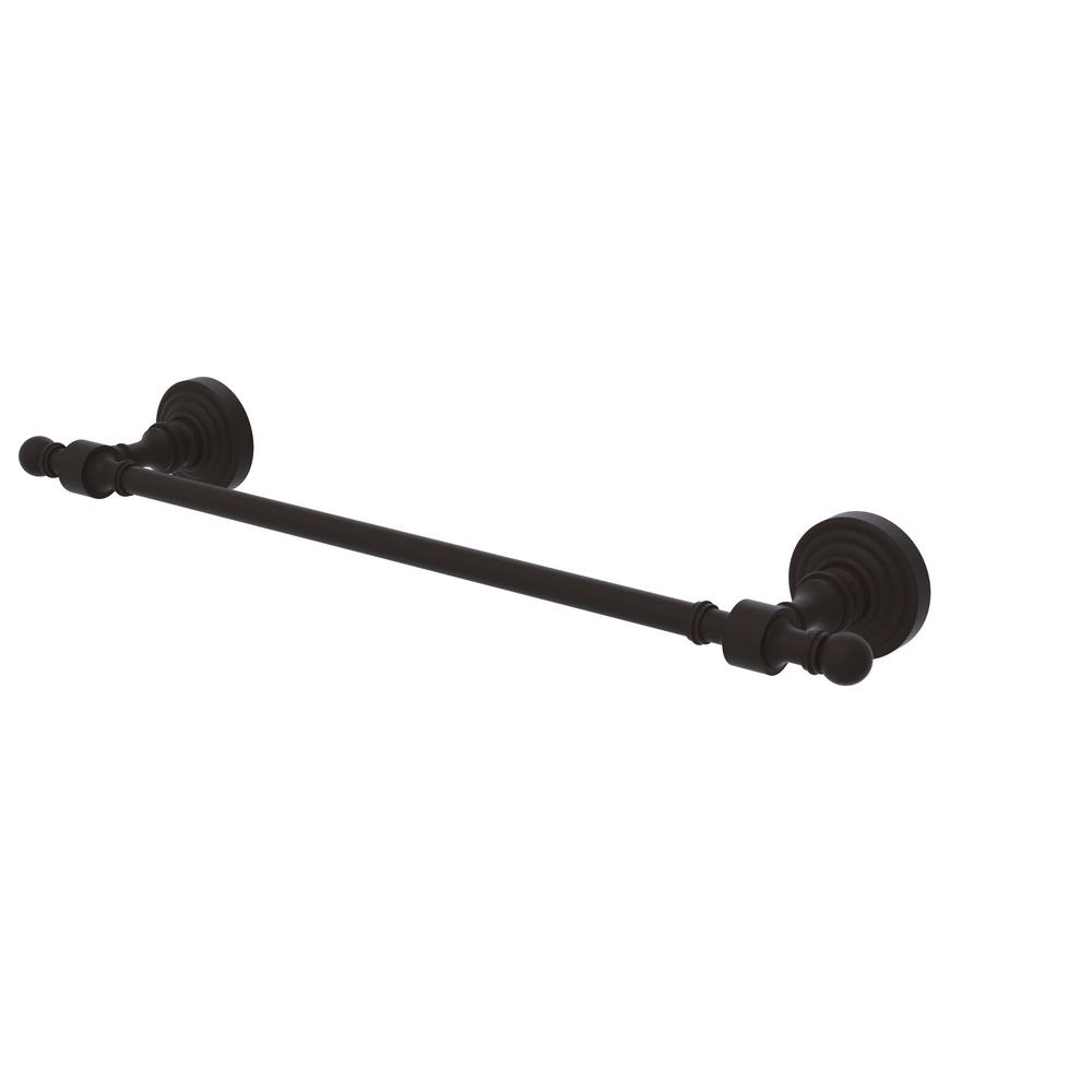 Retro Wave Collection 24 in. Towel Bar in Oil Rubbed Bronze