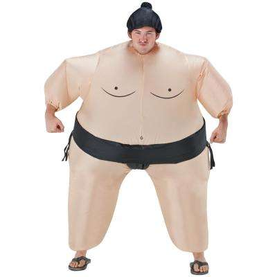 Adult Inflatable Belly Buster Sumo Wrestler Halloween Costume