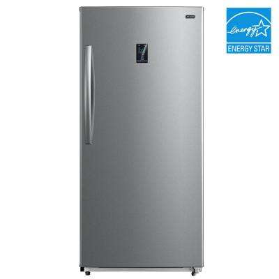 13.8 cu. ft. Energy Star Digital Upright Convertible Deep Freezer / Refrigerator Stainless Steel