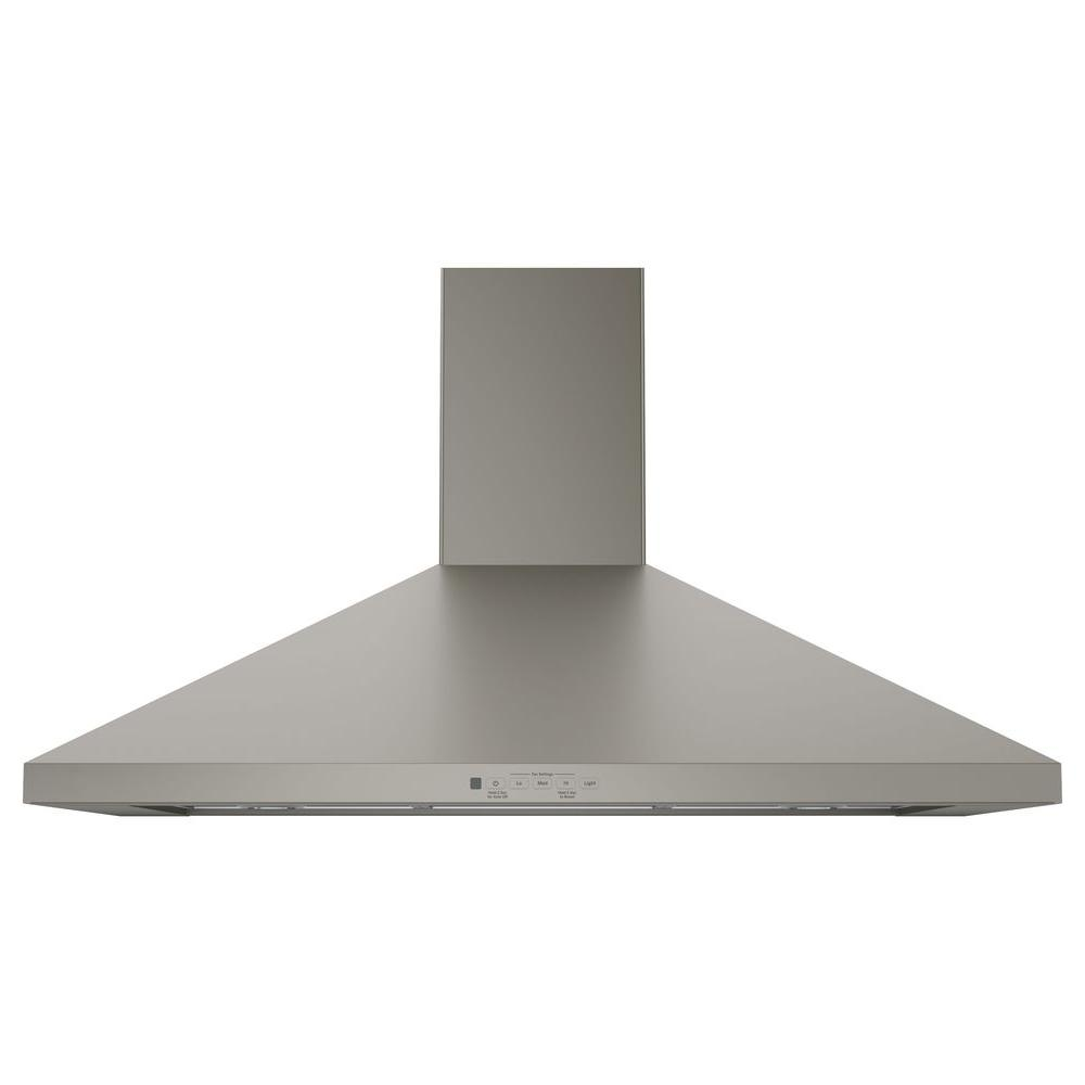 Chimney Hood Product ~ Ge in convertible chimney range hood slate
