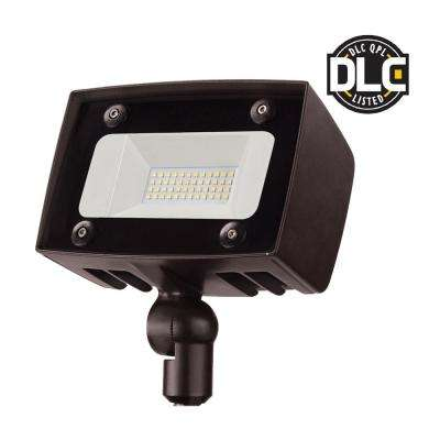 Dark Bronze Outdoor Integrated LED Architectural Security Flood Light