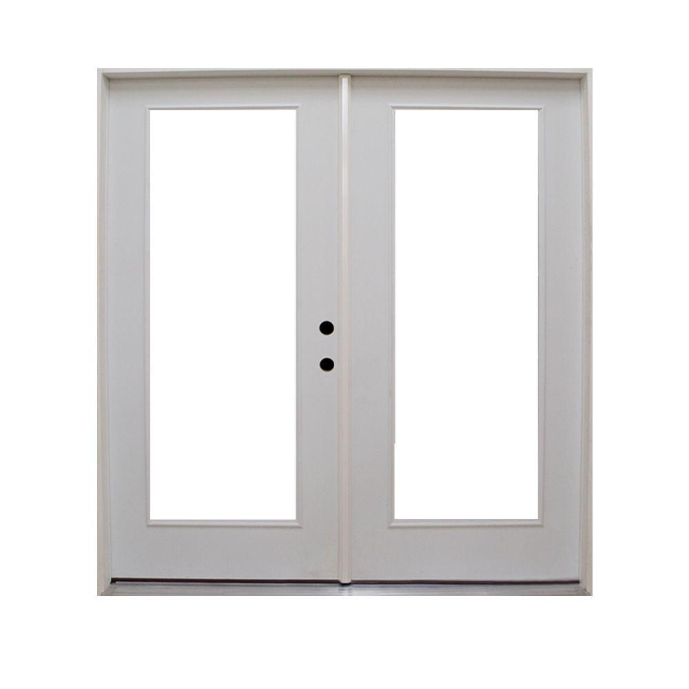 Steves sons 72 in x 80 in retrofit prehung left hand for French patio doors outswing home depot