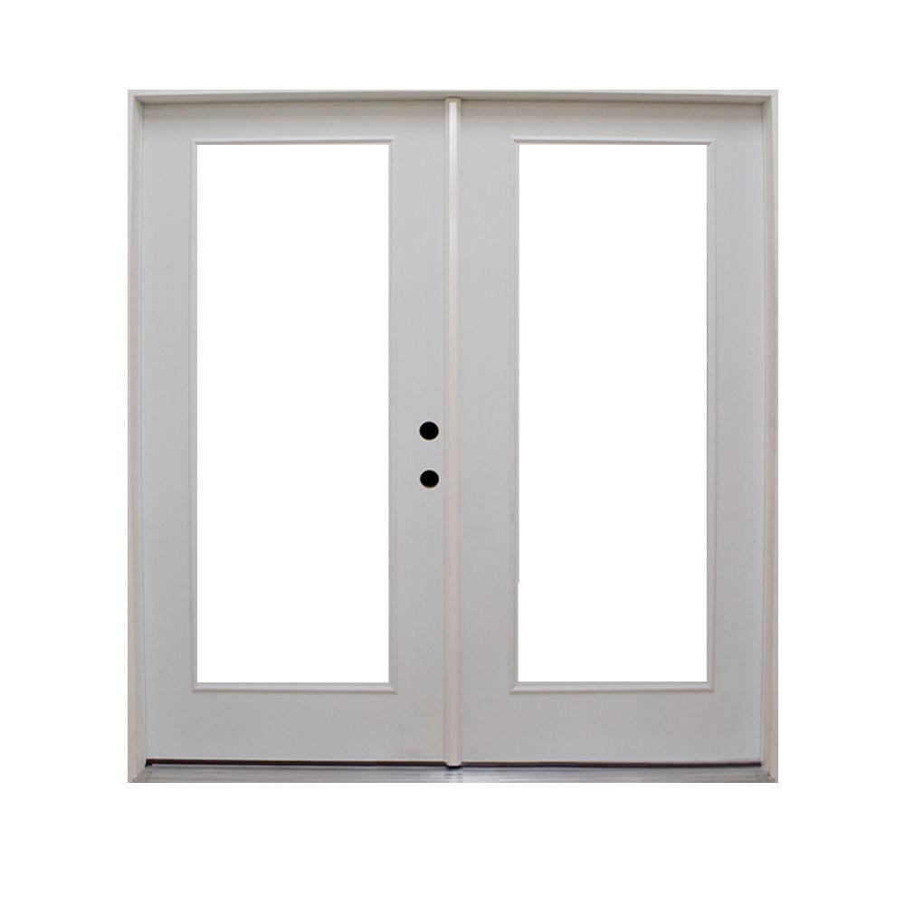 Retrofit Prehung Primed Steel Patio Door