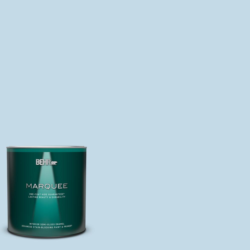 Behr Marquee 1 Qt Home Decorators Collection Hdc Ct 15 Summer Sky Semi Gloss Enamel Interior Paint And Primer 345004 The Home Depot
