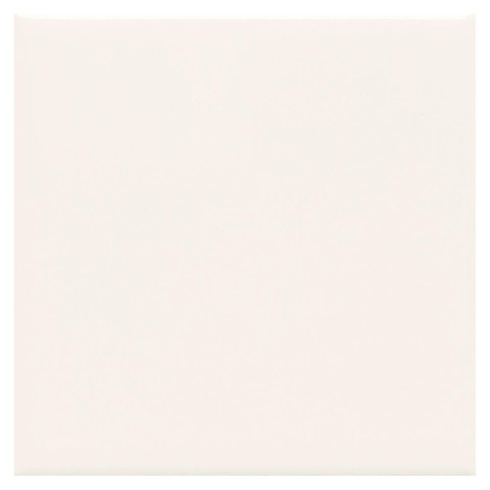 Daltile Matte Arctic White 4 14 In X 4 14 In Ceramic Wall Tile
