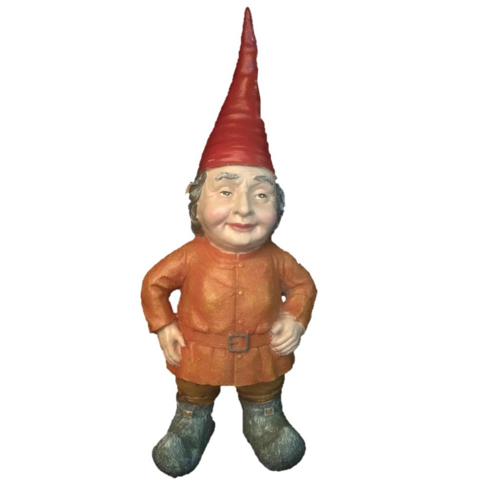 Female Garden Gnomes: HOMESTYLES 14 In. H Lotie The Female Garden Gnome Garden