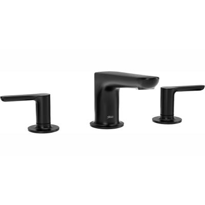 Studio S 2-Handle Deck-Mount Roman Tub Faucet for Flash Rough-in Valves in Matte Black